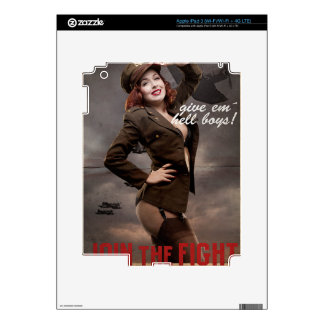 Sexy officer of the American forces in World War I iPad 3 Skin