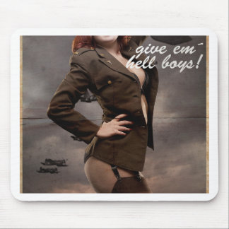 Sexy officer of the American forces in World War I Mouse Pad