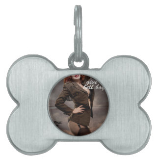 Sexy officer of the American forces in World War I Pet Name Tag