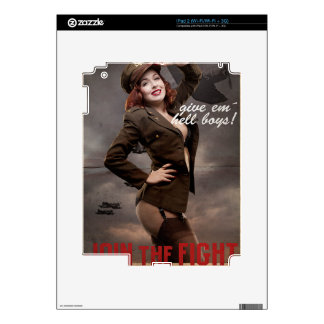 Sexy officer of the American forces in World War I Skin For iPad 2