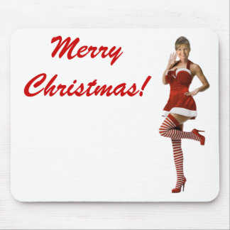 Sexy Palin Christmas(t shirt, xmas cards, buttons) Mouse Pad