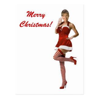 Sexy Palin Christmas(t shirt, xmas cards, buttons) Postcard