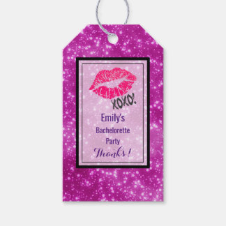 Sexy Pink Kissy Lips with xoxo! Bachelorette Party Gift Tags