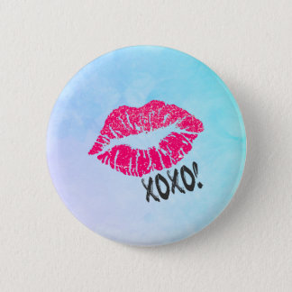 Sexy Pink Kissy Lips with xoxo! Button