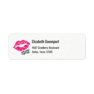 Sexy Pink Kissy Lips xoxo! Label