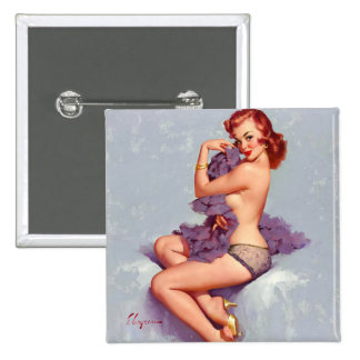 Sexy pinup girl pinback button