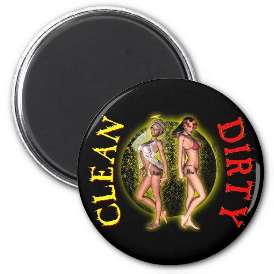 Sexy Pinup Pinup Dishwasher Dirty Clean Magnets! Magnet