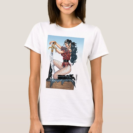 Sexy Pirate Girl Products by Al Rio T-Shirt
