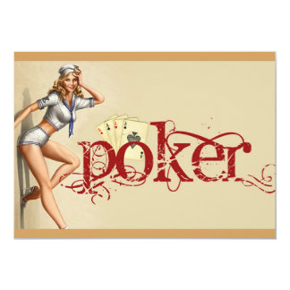 Sexy poker woman card