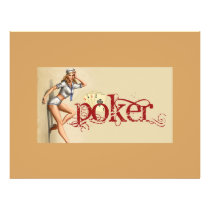 Sexy poker woman flyer