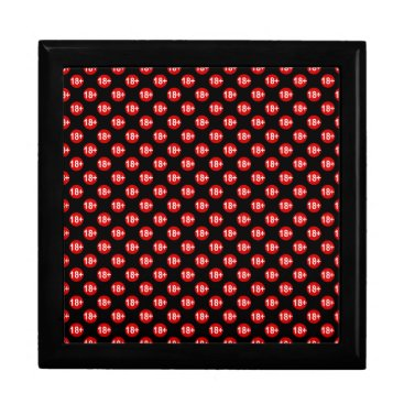 Halloween Themed Sexy red and black polka dot jewelry box