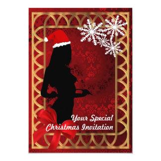 Sexy santa girl  ,  Christmas Card