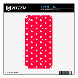 Sexy Triangles and Red Behind on iPhone 4/4S Skin iPhone 4S Skins