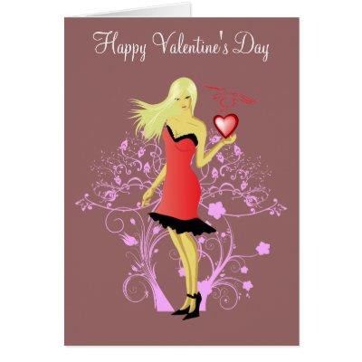 "Sexy Valentine ""Happy Valentine's Day"" Card by winklebox"