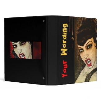 Sexy vampire comic binder