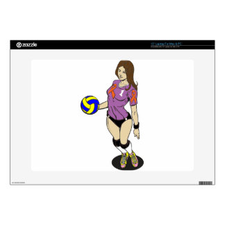 """SEXY VOLLEY GIRL 15"""" LAPTOP SKINS"""