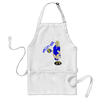 SEXY VOLLEY GIRL BLUE TEXT ADULT APRON