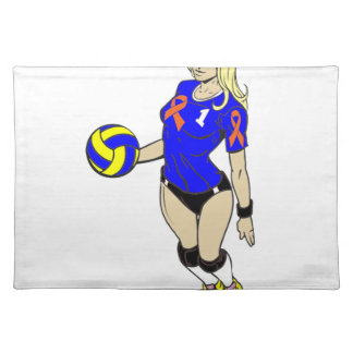 SEXY VOLLEY GIRL CLOTH PLACEMAT
