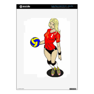 SEXY VOLLEY GIRL DECAL FOR iPad 3