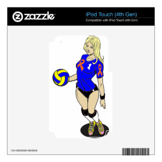 SEXY VOLLEY GIRL DECAL FOR iPod TOUCH 4G