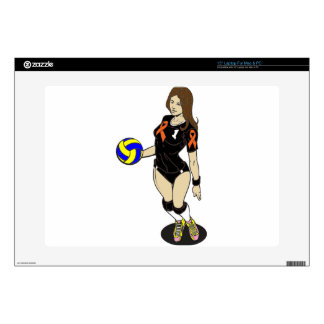 SEXY VOLLEY GIRL DECALS FOR LAPTOPS