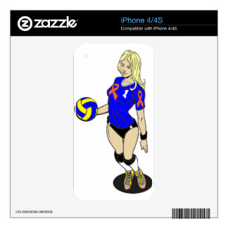 SEXY VOLLEY GIRL DECALS FOR THE iPhone 4S