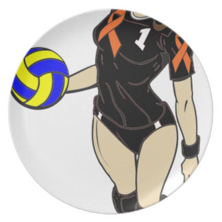 SEXY VOLLEY GIRL DINNER PLATE