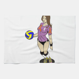 SEXY VOLLEY GIRL HAND TOWELS