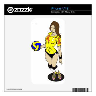 SEXY VOLLEY GIRL iPhone 4 DECAL