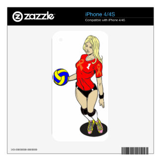 SEXY VOLLEY GIRL iPhone 4S DECAL