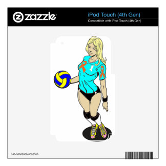 SEXY VOLLEY GIRL iPod TOUCH 4G SKINS