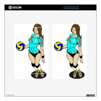 SEXY VOLLEY GIRL KINDLE FIRE SKIN