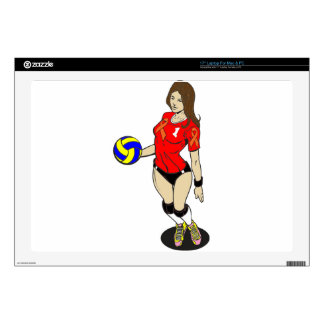 SEXY VOLLEY GIRL LAPTOP DECAL