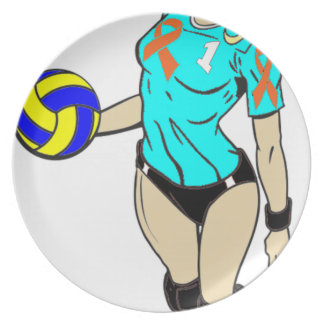 SEXY VOLLEY GIRL MELAMINE PLATE