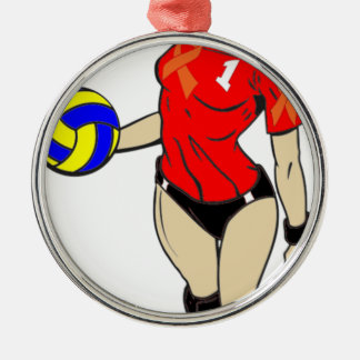 SEXY VOLLEY GIRL METAL ORNAMENT