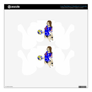 SEXY VOLLEY GIRL PS3 CONTROLLER SKINS
