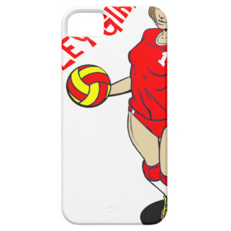 SEXY VOLLEY GIRL RED TEXT iPhone SE/5/5s CASE