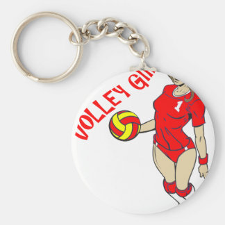 SEXY VOLLEY GIRL RED TEXT KEYCHAIN