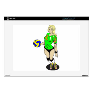 """SEXY VOLLEY GIRL SKIN FOR 15"""" LAPTOP"""