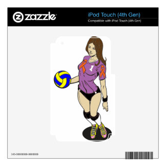 SEXY VOLLEY GIRL SKIN FOR iPod TOUCH 4G