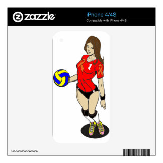 SEXY VOLLEY GIRL SKIN FOR THE iPhone 4S