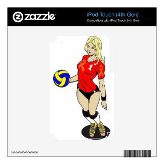 SEXY VOLLEY GIRL SKINS FOR iPod TOUCH 4G