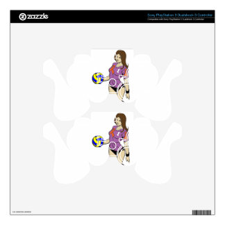 SEXY VOLLEY GIRL SKINS FOR PS3 CONTROLLERS