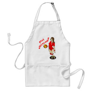 SEXY VOLLEY MOM ADULT APRON