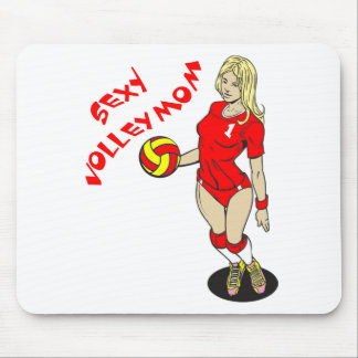 SEXY VOLLEY MOM MOUSE PAD