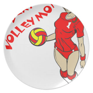 SEXY VOLLEY MOM PLATE