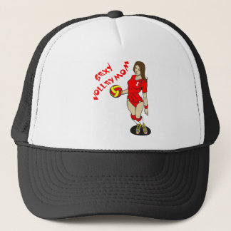 SEXY VOLLEY MOM TRUCKER HAT