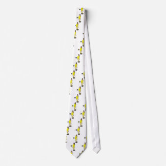 SEXY VOLLEYGIRL BRUNETTE YELLOW NECK TIE