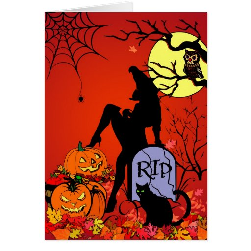 Sexy Wicked Witch Greeting Card