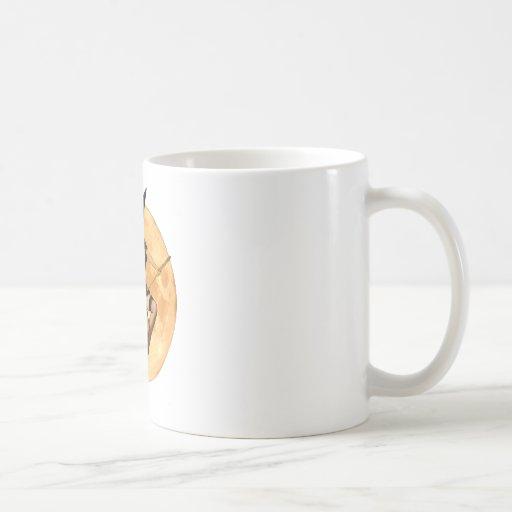 Sexy Witch Flies up to the Moon Coffee Mug